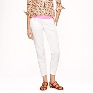 JCREW NICE Scout cropped pants pink waist!